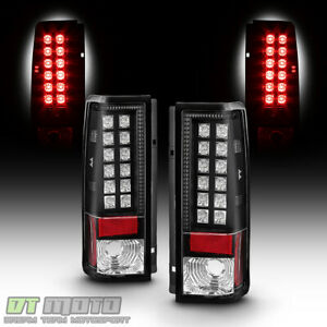 Blk 1985 2005 Chevy Astro Gmc Safari Lumileds Led Tail Lights Lamps Left Right