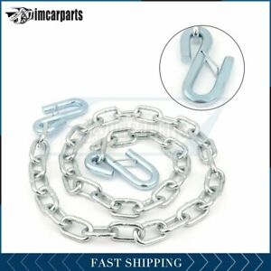 1x 1 4 X 48 Grade 30 Trailer Safety Chain With S Hook 1pcs
