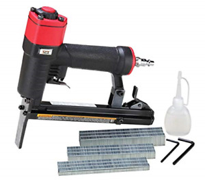 3plus H7116lsp kt 22 Gauge 3 8 inch Crown Pneumatic Upholstery Stapler With Long