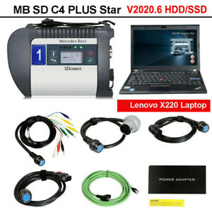 Newest V2020 06 Mb Sd C4 Plus Star Obd2 Diagnosis Support Doip For Cars Trucks