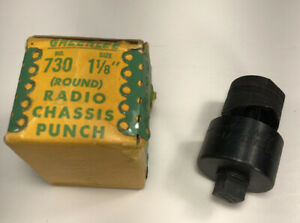 Greenlee No 730 1 1 8 Round Radio Chassis Punch Set Made In Usa