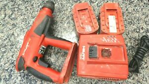 Hilti Te 2 a Hammer Drill 24 Volt Cordless Tool With 2 Batteries