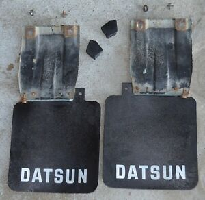 80 86 Nissan Datsun 720 Truck Mud Flaps Mount Plates Rear Oem Parts Nice