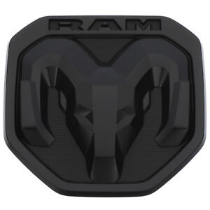 New Oem Tailgate Dodge Rams Head Emblem Badge Matte Black 2019 Ram 1500 Dt