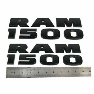 For Dodge Ram Matte Flat Black Ram 1500 Emblem Nameplate Badge Set 2 New Oem