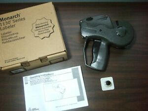 Monarch 1130 Series Labeler Price Gun Instructions Ink Label Avery Dennison