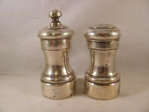 Pair Antique 925 Sterling Silver Revere Shaker Peugeot Pepper Grinder 3 5 In