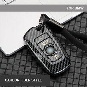 Carbon Fiber Style Car Key Fob Case Cover For Bmw 1 2 3 4 5 6 7series X3 X4 F10