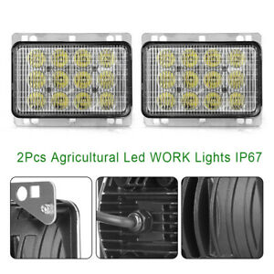 2pcs Agricultural Led Tractor Lights For Off road Vehicles Atvs Trucks Boats