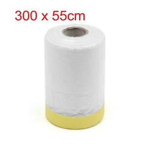 Pre taped Masking Film Tape For Car Decoration Auto Paint Protection 300 X 55cm