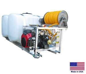 Sprayer Commercial Skid Mounted 35 Gpm 700 Psi 200 200 Gallon Split Tank