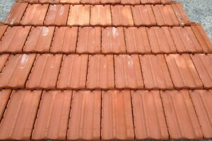 French Style Roof Tile Smooth Red 2pcs Samples
