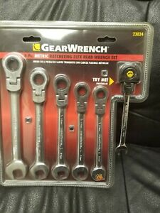 Gearwrench 6 Pc 23024 Metric Ratcheting Flex Head Wrench Set Sae