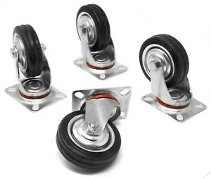Wen Ca5164w 4 inch 155 pound Capacity Rubber Swivel Plate Caster 4 pack