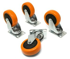 Wen Ca3223w 3 inch 220 pound Capacity Polyurethane Swivel Plate Caster 4 pack