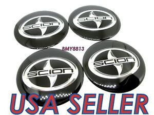 4x 65mm Black Wheel Rim Center Cap Sticker Decal For Scion Xb Xc Xd Tc Frs