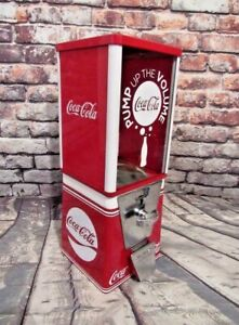 COCA COLA vintage gumball machine M&M dispenser coke memorabilia home decor gift