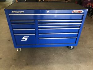 Snap On Classic Series Royal Blue 55 11 Drawer Tool Box Slightly Used