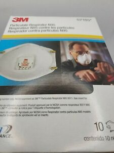 Box Of 10 New Protective Mask N Grade 95 Exp 2025 Usa Made M3 Ships Fast