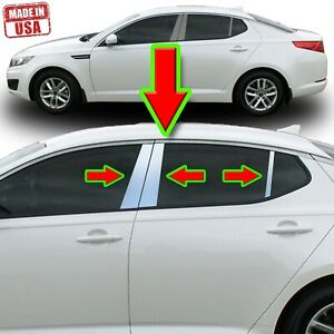 Chrome Pillar Trim For Kia Optima 11 15 6pc Set Door Cover Mirrored Window Post