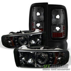 1994 2001 Dodge Ram Halo Led Projector Headlights smoked Tail Lights Left right