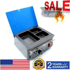 Dental 3 well Pot Lab Melting Dipping Analog Wax Heater Melter Dentist Electric