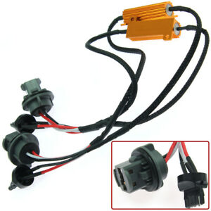 2x 7440 7443 Led Canbus Error Free Load Resistor Wiring Harness Lamp Decoder Usa