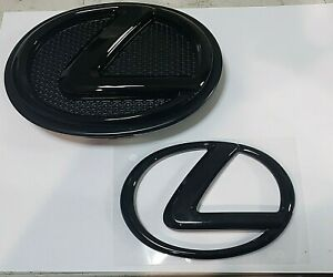 Fits Lexus Emblem Black Ct200h L Front Rear Ff Rr Set 2015 2016 2017