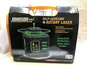 Johnson 40 6543 Self Leveling Rotary Laser Level W Accs In Case
