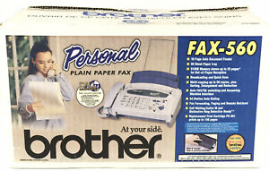 Personal Brother Fax 560 Plain Paper Fax Machine New Open Box