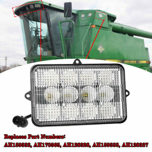 Ah128327 4 x6 Led Sealed Headlights For John Deere Combines Tractor Lights