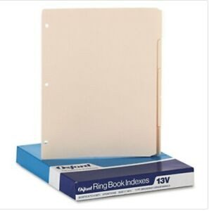 2 Boxes Oxford 3 hole Punched Index For Binder 1 5 Cut 5 tab Manila Oxf13v