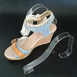 No 2 Warehouse Pack Of 10 Acrylic Sandal Shoe Store Display Stand Forms Inserts