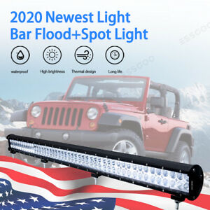 52INCH 768W LED WORK LIGHT BAR COMBO BEAM DRIVING LIGHTS OFFROAD LAMP ATV 12V