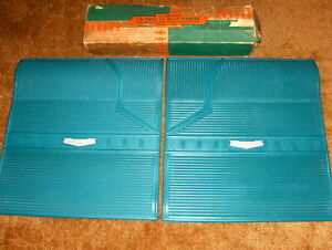 Nos 1958 Chevrolet Impala Convertible Turquoise Accessory Rear Floor Mats