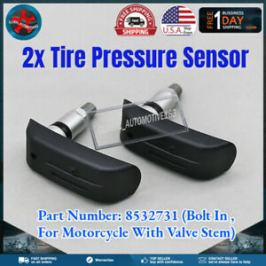 Set 2 Tpms Tire Pressure Sensor 8532731 For Bmw Motorcycle F800r F800st R1200gs