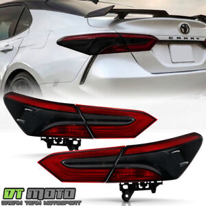 For 2018 2019 2020 Toyota Camry Red Smoke Tail Lights Brake Lamps Left right 4pc