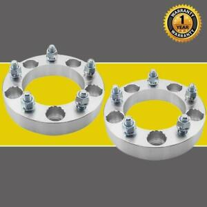 2x 1 25 Wheel Spacers Adapters For Ford Dodge Ram 1500 5x5 5 1 2 x20 Studs