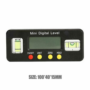 Digital Inclinometer Spirit Level Box Protractor Angle Finder Gauge Meter Bevel