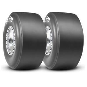 2 Mickey Thompson Et Drag Racing Slick Tires Stiff 33x16 5 15s Mt 3084s Pair