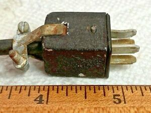 Vintage Cinch Jones 4 Pin Male Connector Plug 6 Cable Attached
