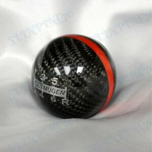 Jdm Racing Mugen Shift Knob Black Carbon Fiber S2000 Civic Evo Wrx Sti 6 Speed