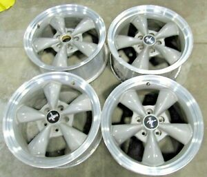 17 Ford Mustang 1999 2004 Bullitt Wheels Set Of 4 Caps Excellent Originals