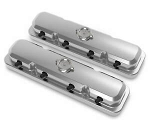 Holley 241 191 2 pc Ls Pontiac Style Valve Covers Polished Finish