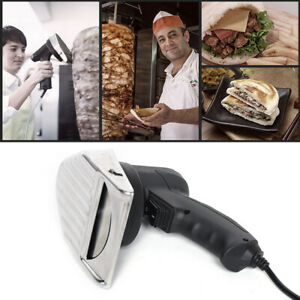 Sus420 Doner Electric Knife Cutter Slicer Gyro Shawarma Meat Cutter Blade Us Shi