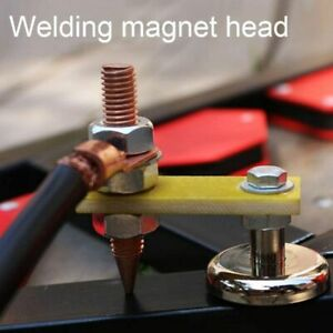 Adjustable Welding Magnet Head Magnetic Welding Support Ground Clamp Holder New