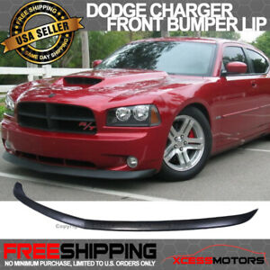 Fits 06 10 Dodge Charger Oe Style Front Bumper Lip Splitter Unpainted Pu