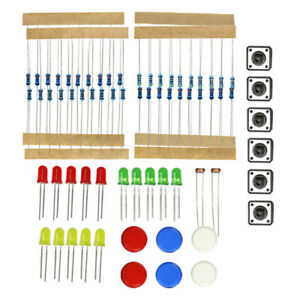 Electronic Components Starter Kit Breadboard Led Cable Resistor For Arduino Usa