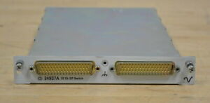 Agilent 34937a 32 channel Form C form A General Purpose Switch For 34980a 2 Avai