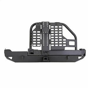 Smittybilt Xrc Rear Tire Carrier Bumper With Hitch Black 76851